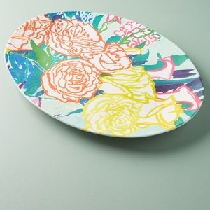 Anthropologie Paint + Petals Melamine Platter